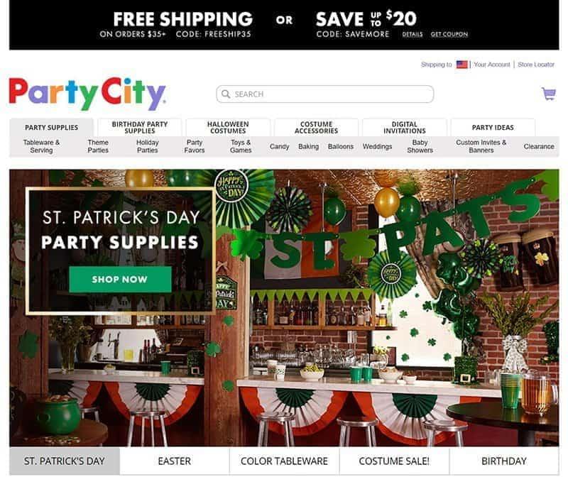 party city coupons screenshot