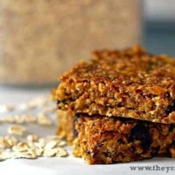 pumpkin oatmeal bars 1