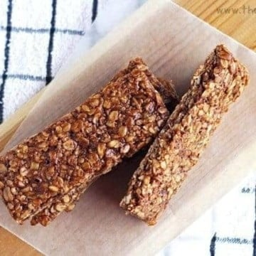 homemade peanut butter granola bar 1