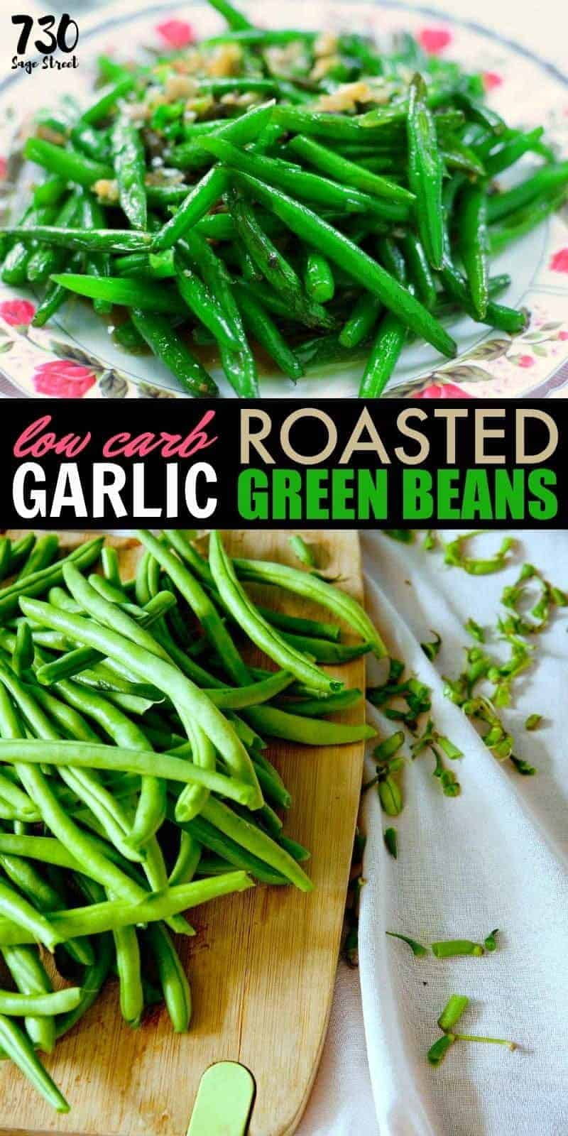 This easy garlic green beans recipe makes a delicious low carb summer side dish. #lowcarb #veggies #sidedish #keto #ketogenic #lchf #ketorecipes