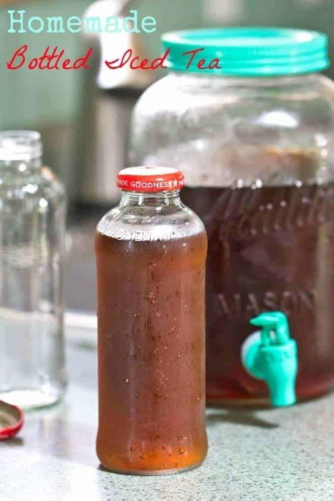 Homemade Bottled Iced Tea
