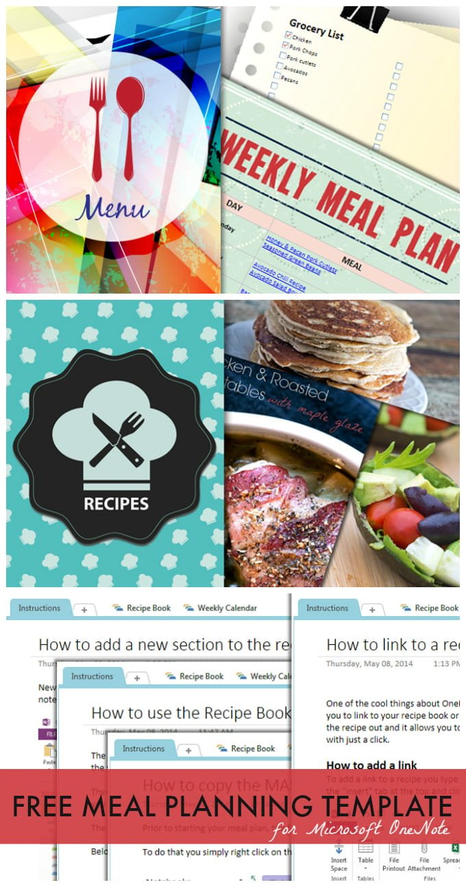 meal planning template for microsoft onenote 730 sage street
