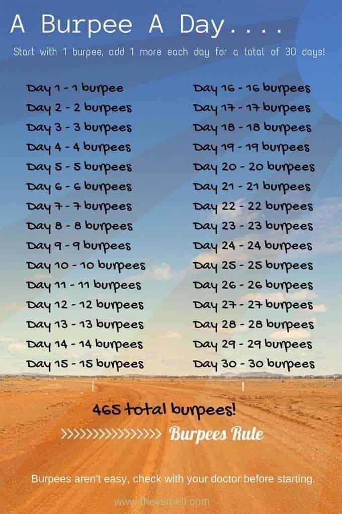 30 Day Burpee Challenge 730 Sage Street