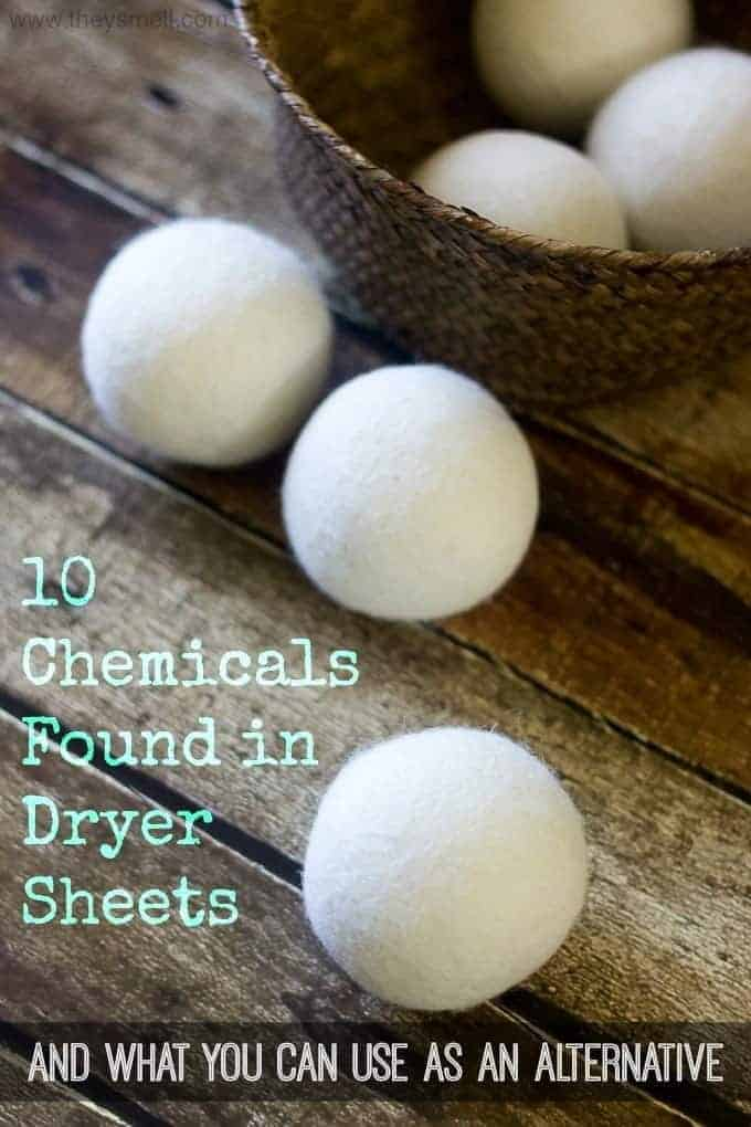 10 Chemicals Found in Dryer Sheets and what you can use as an Alternative