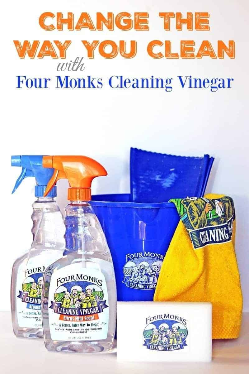 Change the way you clean with Four Monks Cleaning Vinegar.