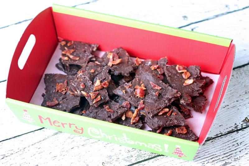 Dark Chocolate Bacon Bark with Sea Salt Recipe