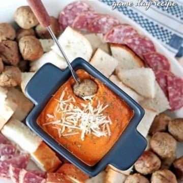 pizza fondue game day recipe 1