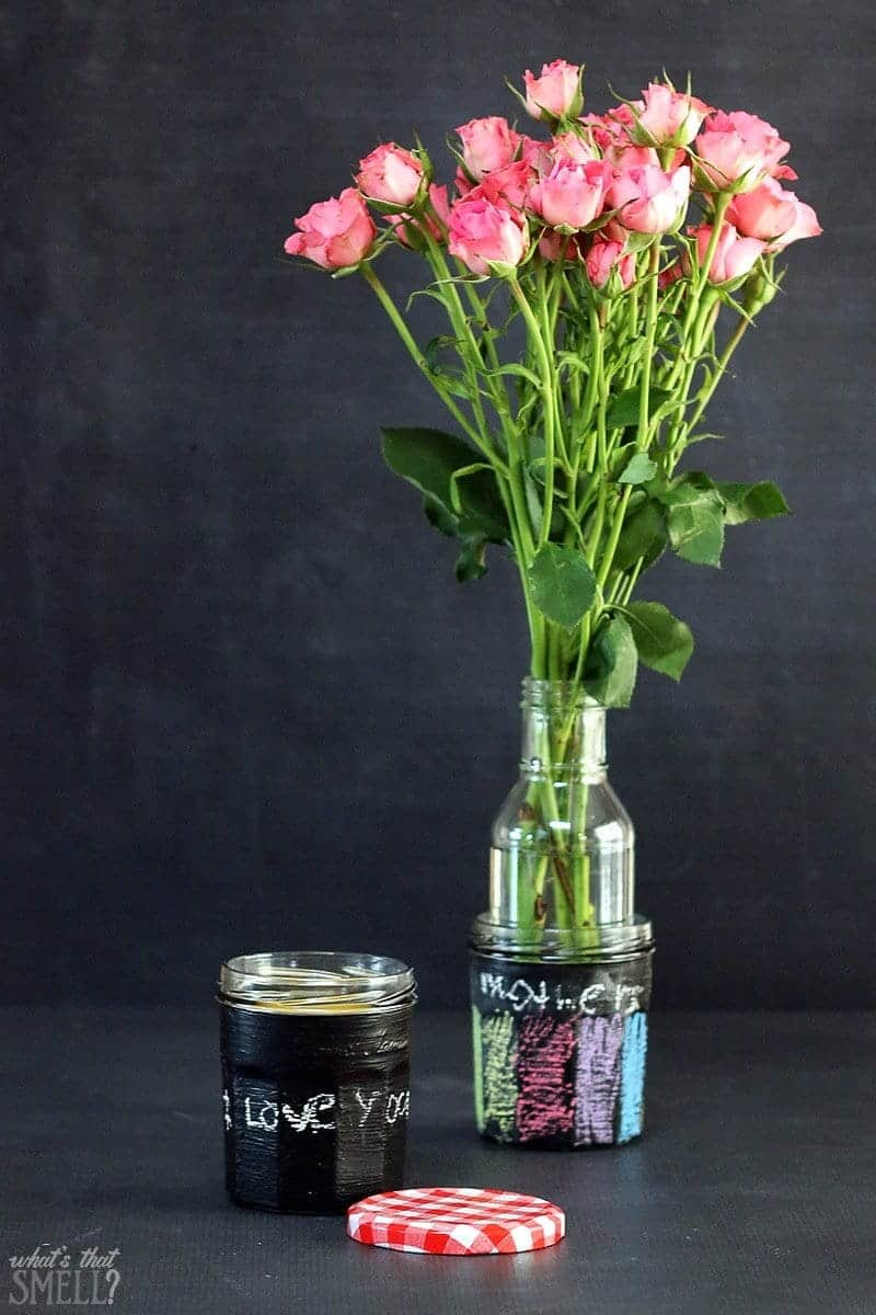 Mother's Day Chalkboard Jars for Breakfast in Bed
