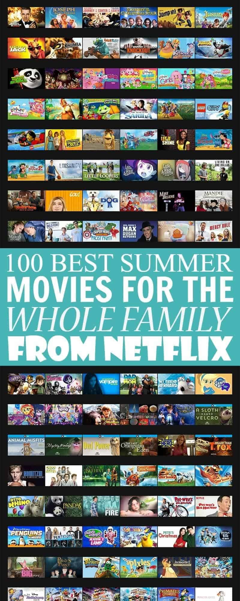 100 Best Summer Movies for the Whole Family on Netflix - take a break from summer fun to enjoy a movie with the family from this list of 100 family-friendly movies currently on Netflix.