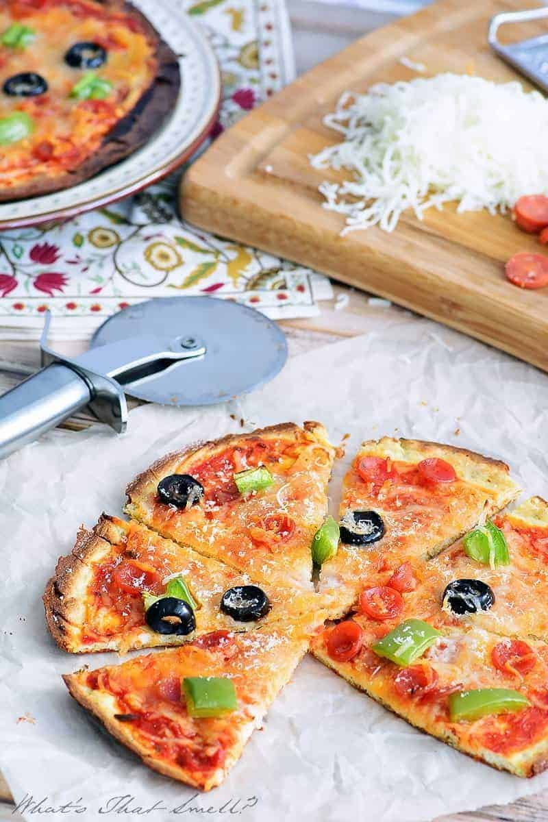 Low Carb Pizza - you don't have to give up pizza when you follow a low carb or ketogenic diet! This low carb pizza recipe is delicious and easy to make.