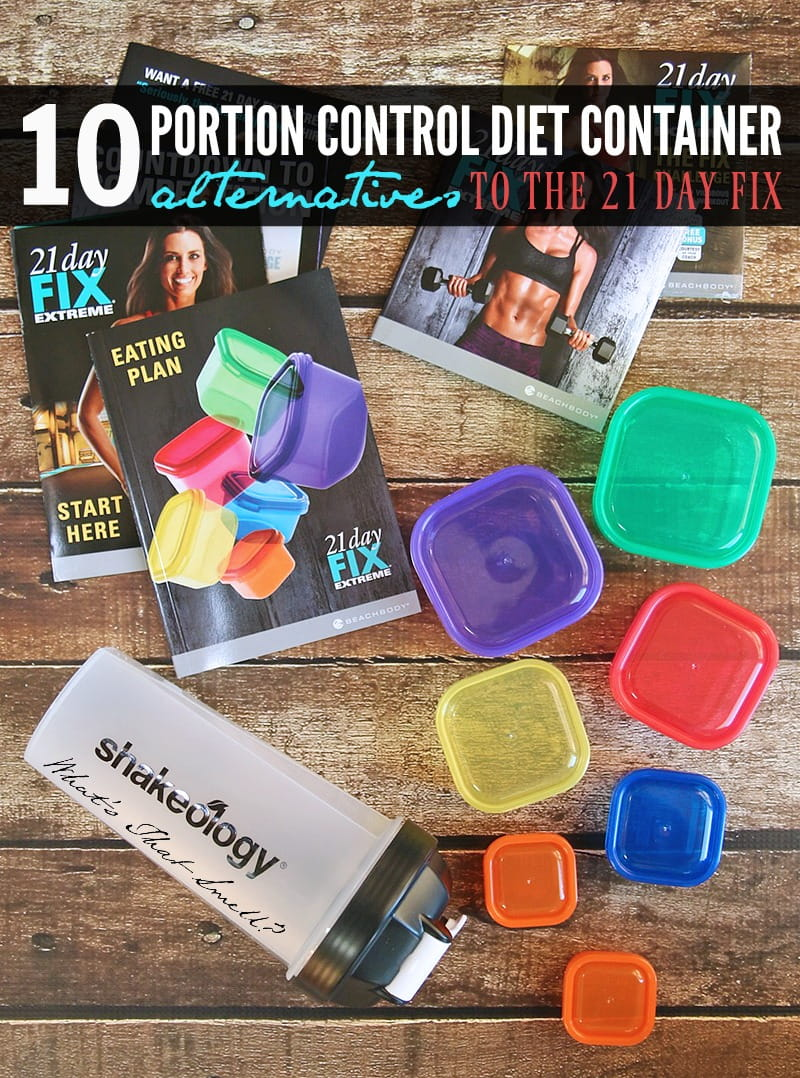 10 Portion Control Diet Container Alternatives to 21 Day Fix - take control of your diet with color-coded portion control diet containers inspired by the 21-Day Fix program but at a fraction of the cost.