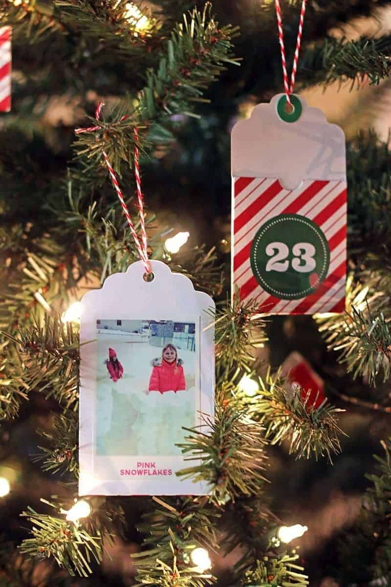 DIY Advent Calendar Tree with the HP Sprocket Portable Printer
