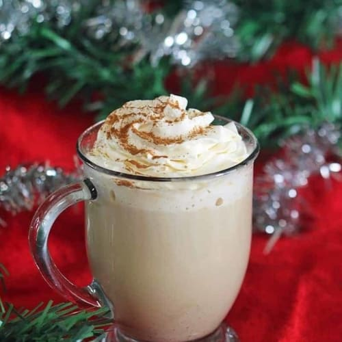 Eggnog Latte Recipe - Easy and delicious this eggnog latte is the perfect coffee house style drink for the holidays, and it is simple to make at home.
