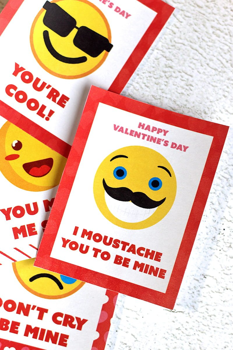 Emoji Printable Valentines Day Cards 730 Sage Street – Valentines Card Print out