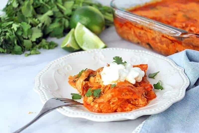 Low Carb Chicken Enchilada Casserole - 730 Sage Street