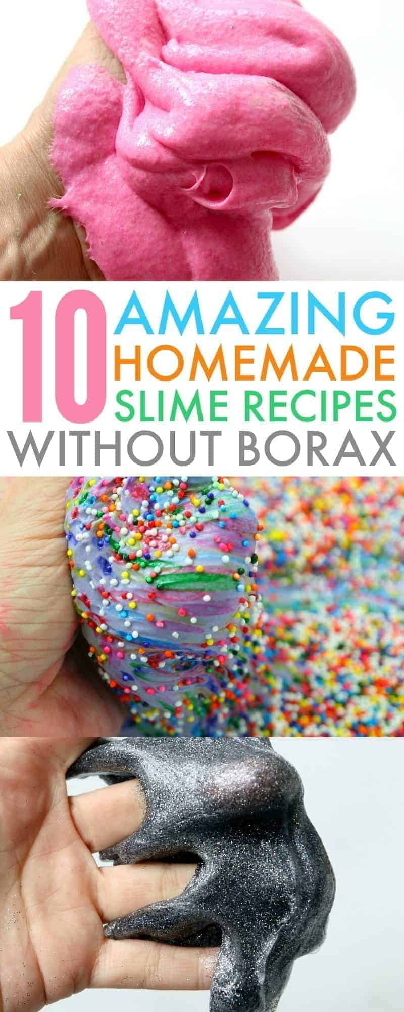 how to make slime without Borax image collage