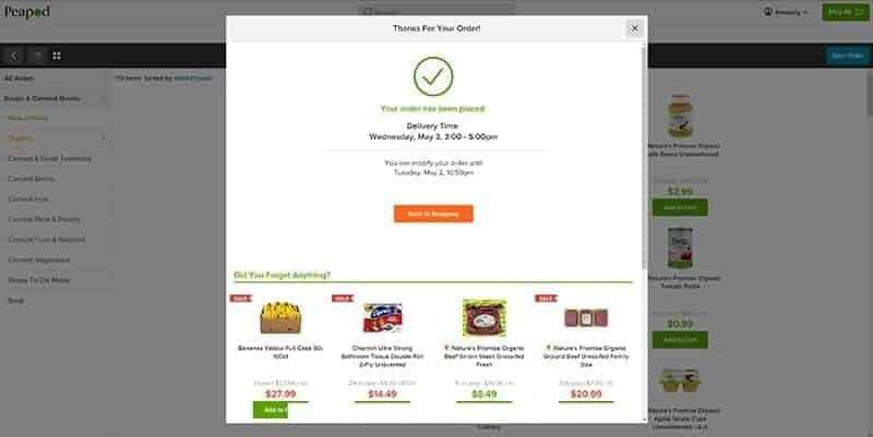 Peapod online shopping / Taylor gourmet merrifield