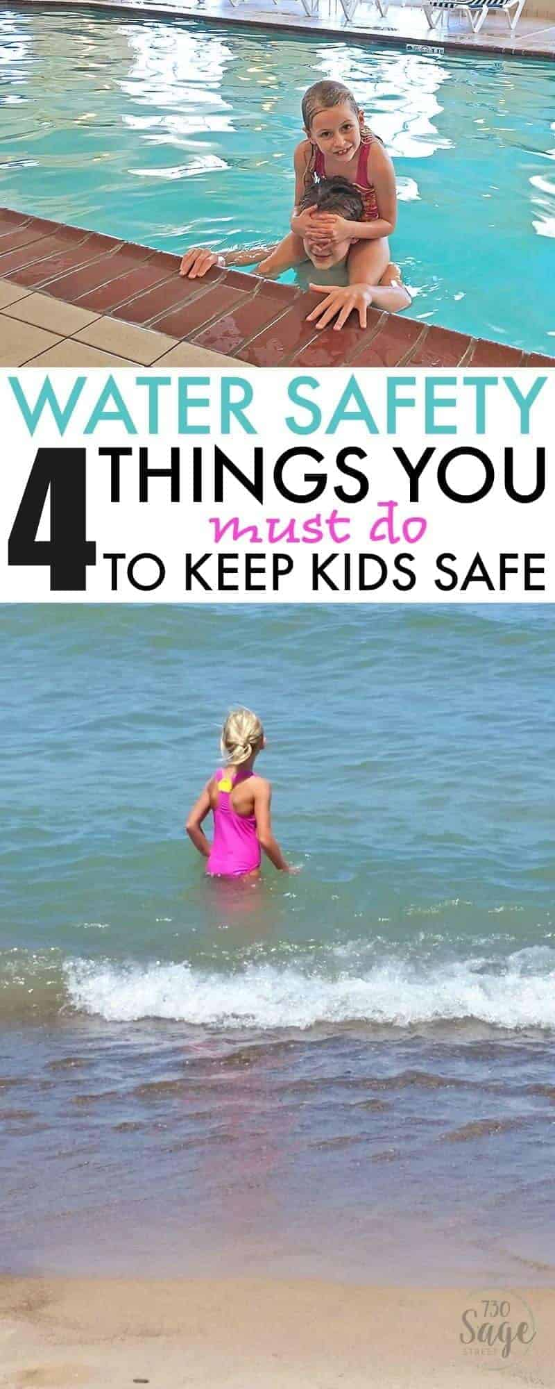 Keeping kids safer around the water is as simple as remembering your A, B, C, & D's. Learn 4 Water Safety Things You MUST Do to Keep Kids Safe this summer.