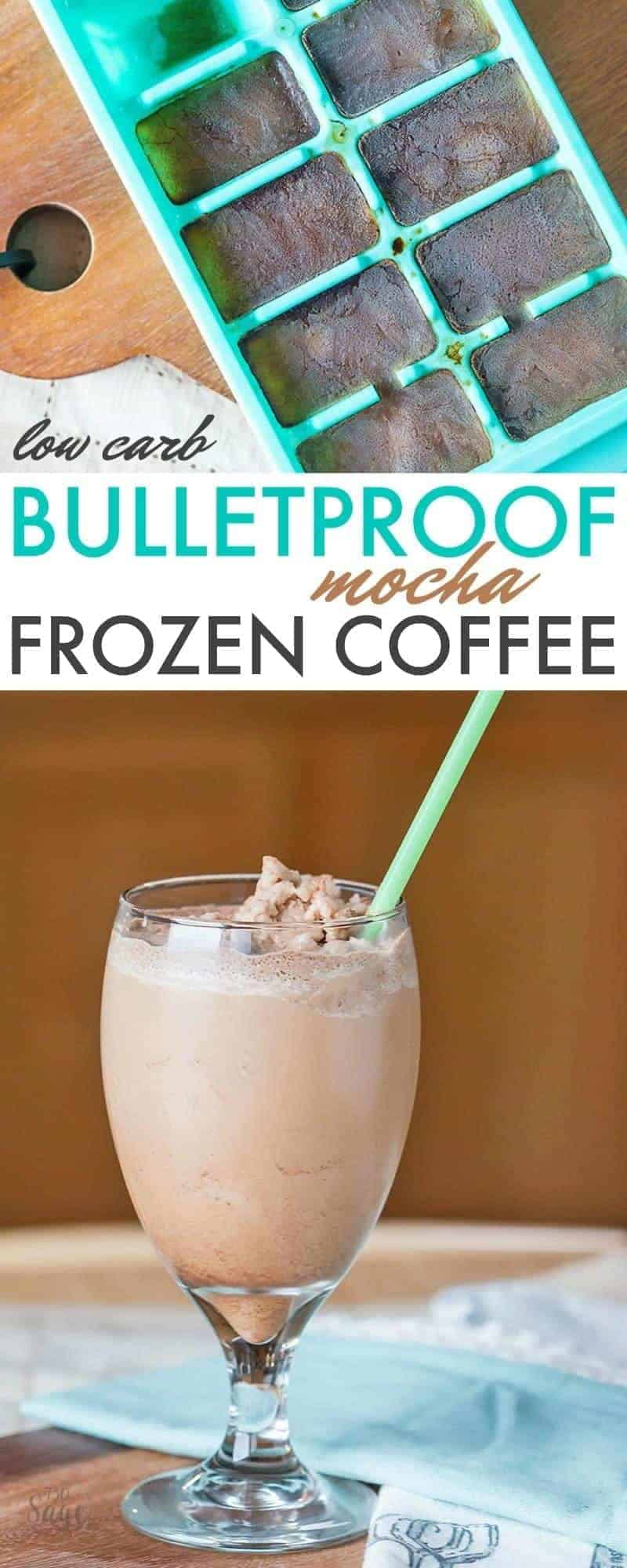 This bulletproof frozen mocha coffee recipe is perfect for low carb or ketogenic diets. Also enjoy iced instead of frozen. Easy and delicious!