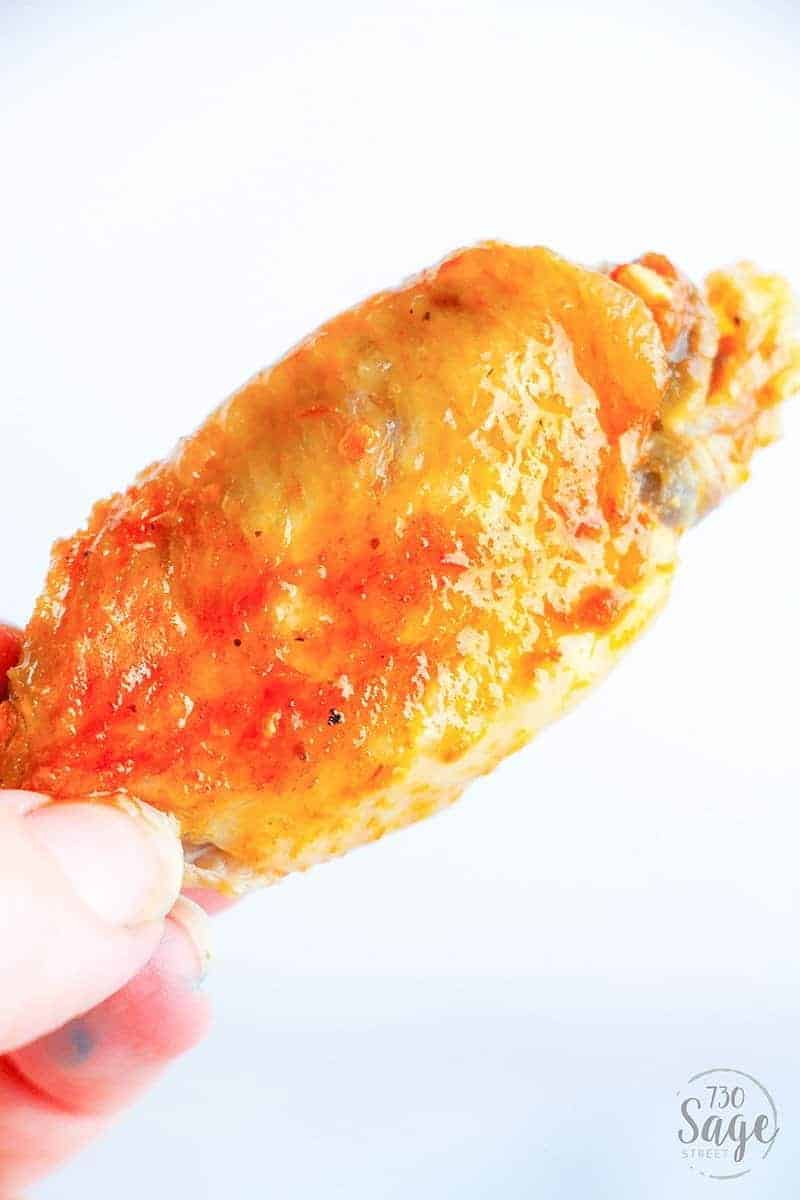 Spicy wings dipped in cool ranch is so satisfying & this low carb instant pot hot wings recipe means you can enjoy quick and easy hot wings even if you follow a ketogenic or low carb diet.