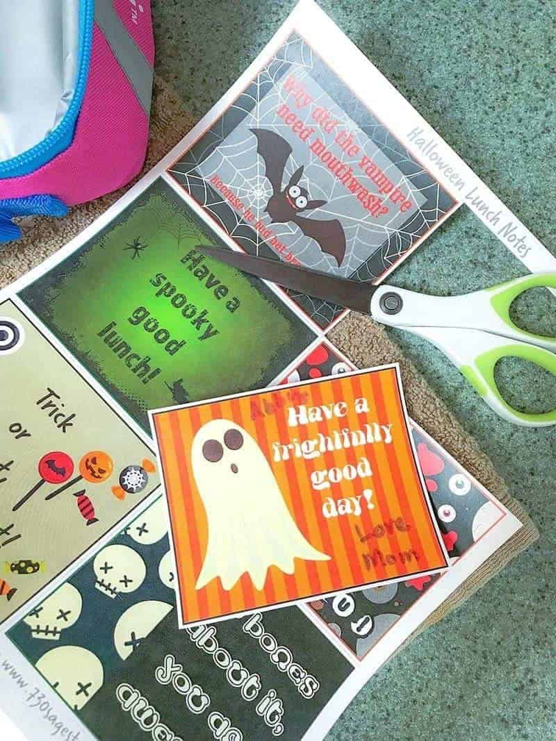These free printable Halloween lunch box notes are fun ways to send a little bit of extra special love and attention with them to school.