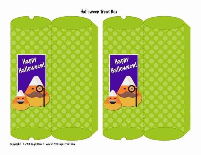 Fill this free printable Halloween party treat box with candy or party favors for a great addition to your class, youth group, or homeschool party.