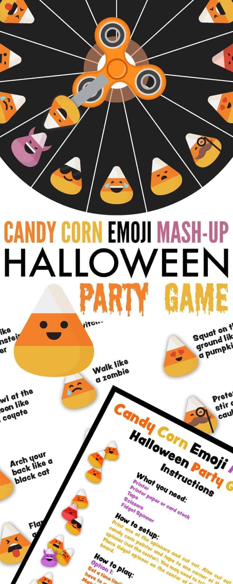 graphic relating to Mash Game Printable named Sweet Corn Emoji Mash-Up Halloween Celebration Recreation - 730 Sage Road
