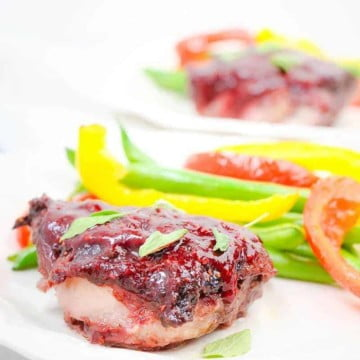 low carb keto baked raspberry chicken
