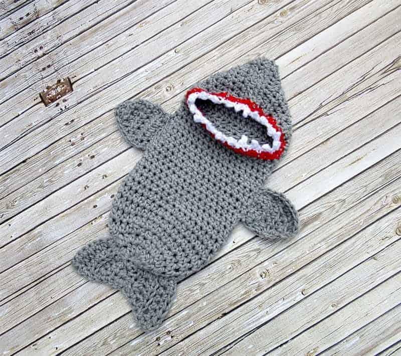crochet shark costume for babies