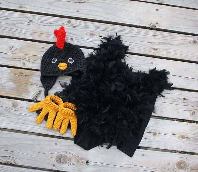 black chicken creative Halloween Costume for kids