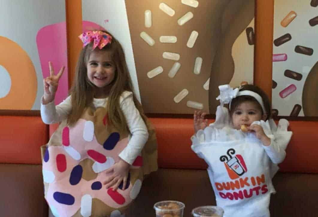 Dunkin Donuts and Coffee creative Halloween Costume for kids