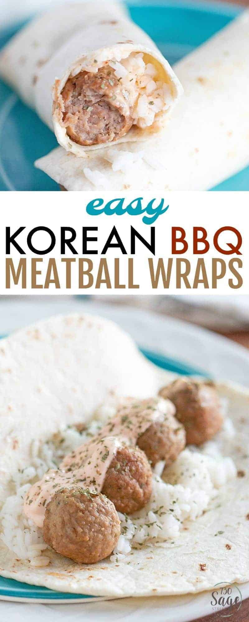 Get a delicious dinner on the table quickly - in under 30 minutes - with these delicious and super easy Korean BBQ Meatball Wraps.