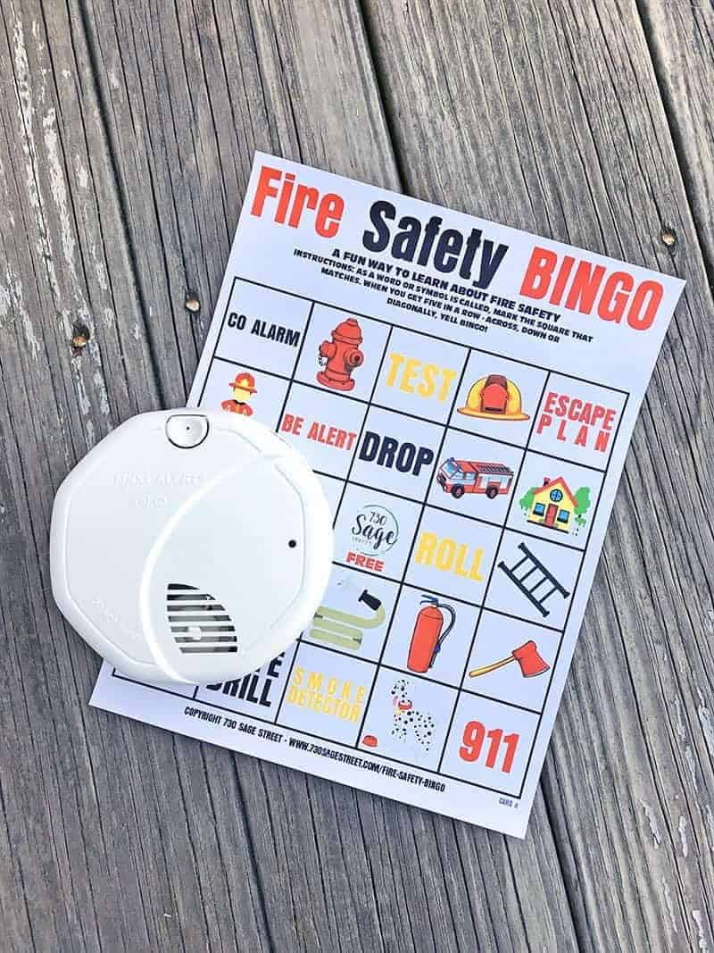 This fire safety bingo printable will help teach vocabulary and important key safety concepts for kids in a fun and engaging way.