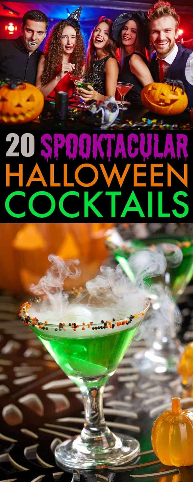 Take your spooky fun to the next level with these 20 delicious and festive Halloween Cocktails. Frightfully fun, tasty and fun to look at!