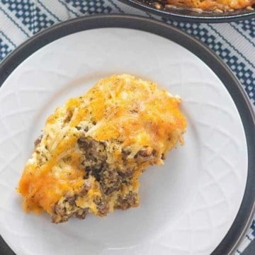 cheeseburger pie low carb