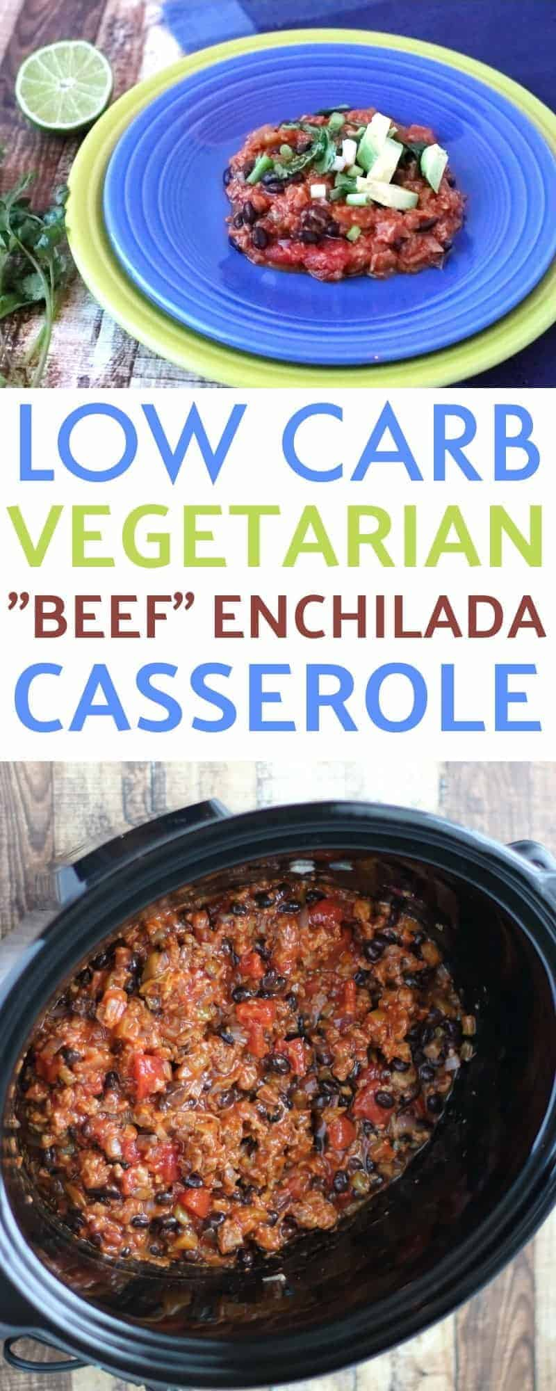 Get dinner on the table with this easy low carb vegetarian
