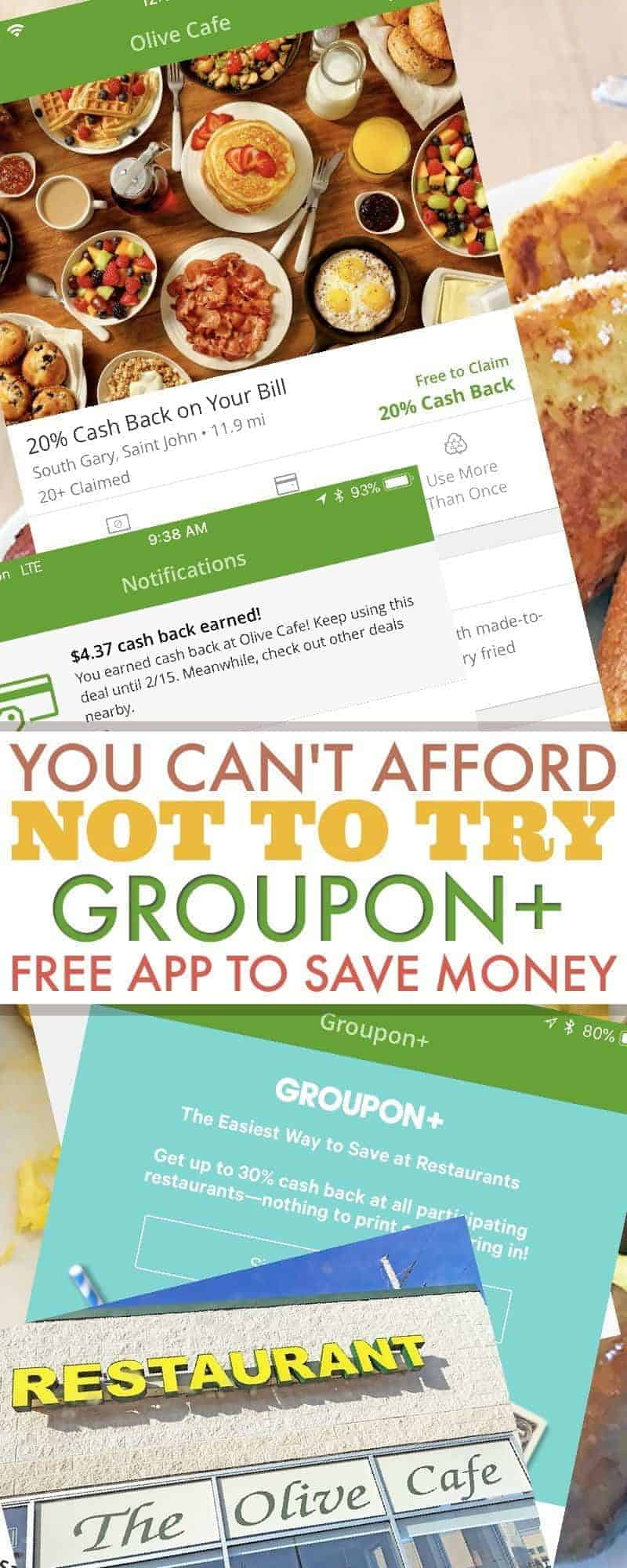 You Can't Afford NOT to Try Groupon Plus – Free App to Save Money