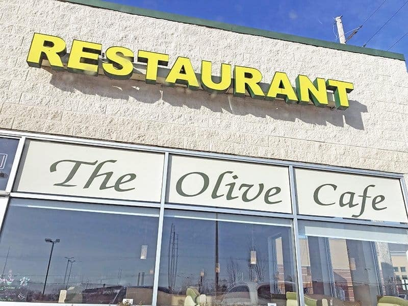 exterior of The Olive Cafe