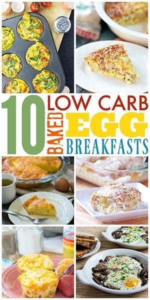 baked eggs photo collage
