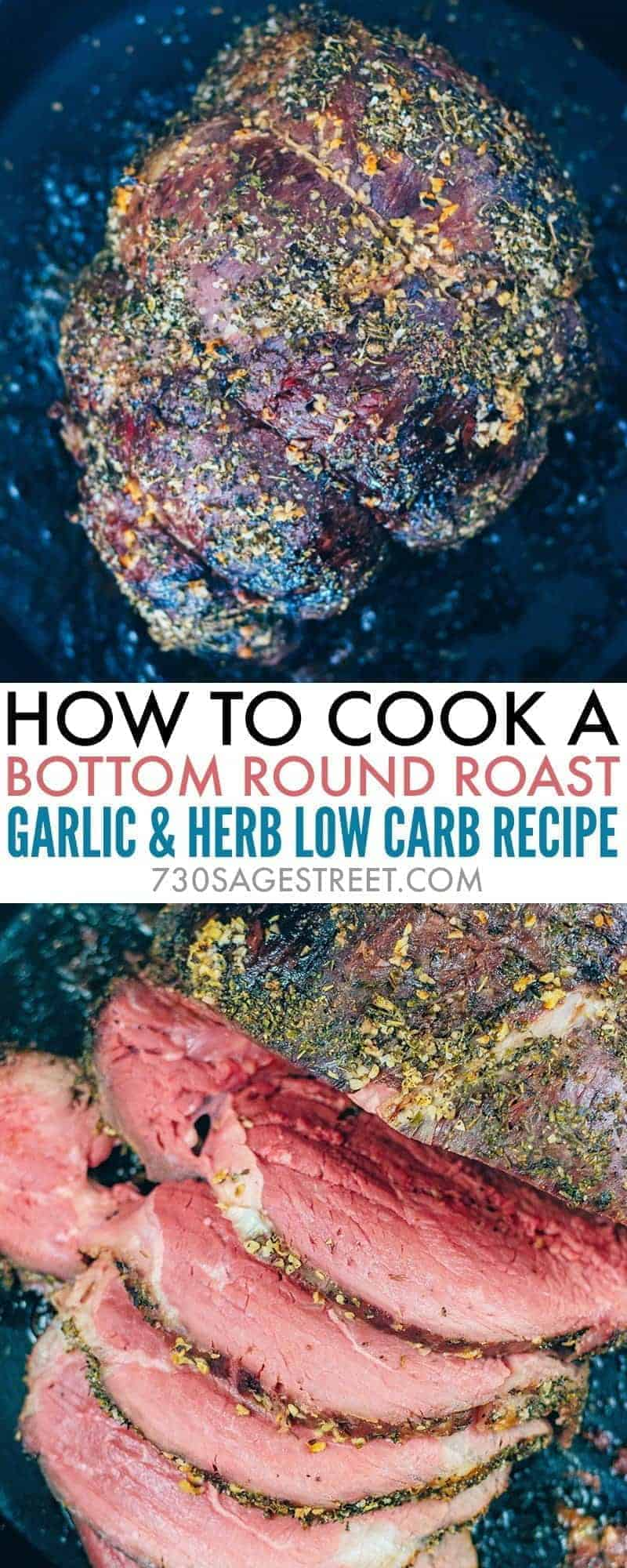 Bottom round roast is a cut of meat that is affordable but has a tendency to be pretty tough. Learn how you cook a perfect, tender, medium-rare bottom round roast that can be sliced nicely. #lowcarb #keto #beef #dinner