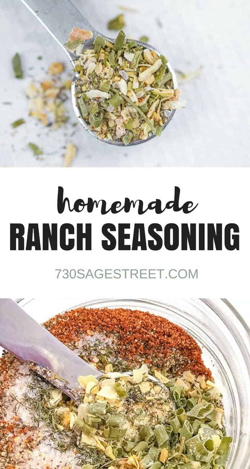 ranch seasoning mix photo collage
