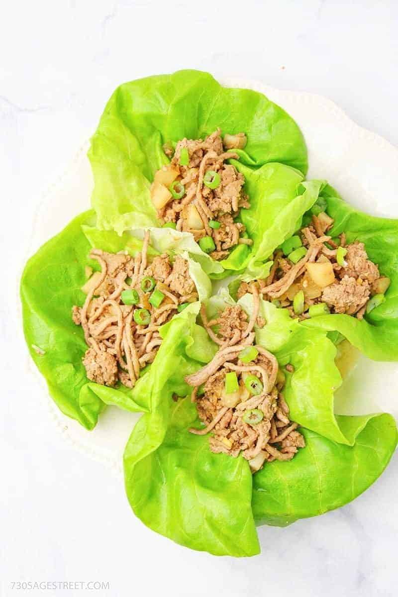 copycat PF Changs Lettuce Wraps on a white background