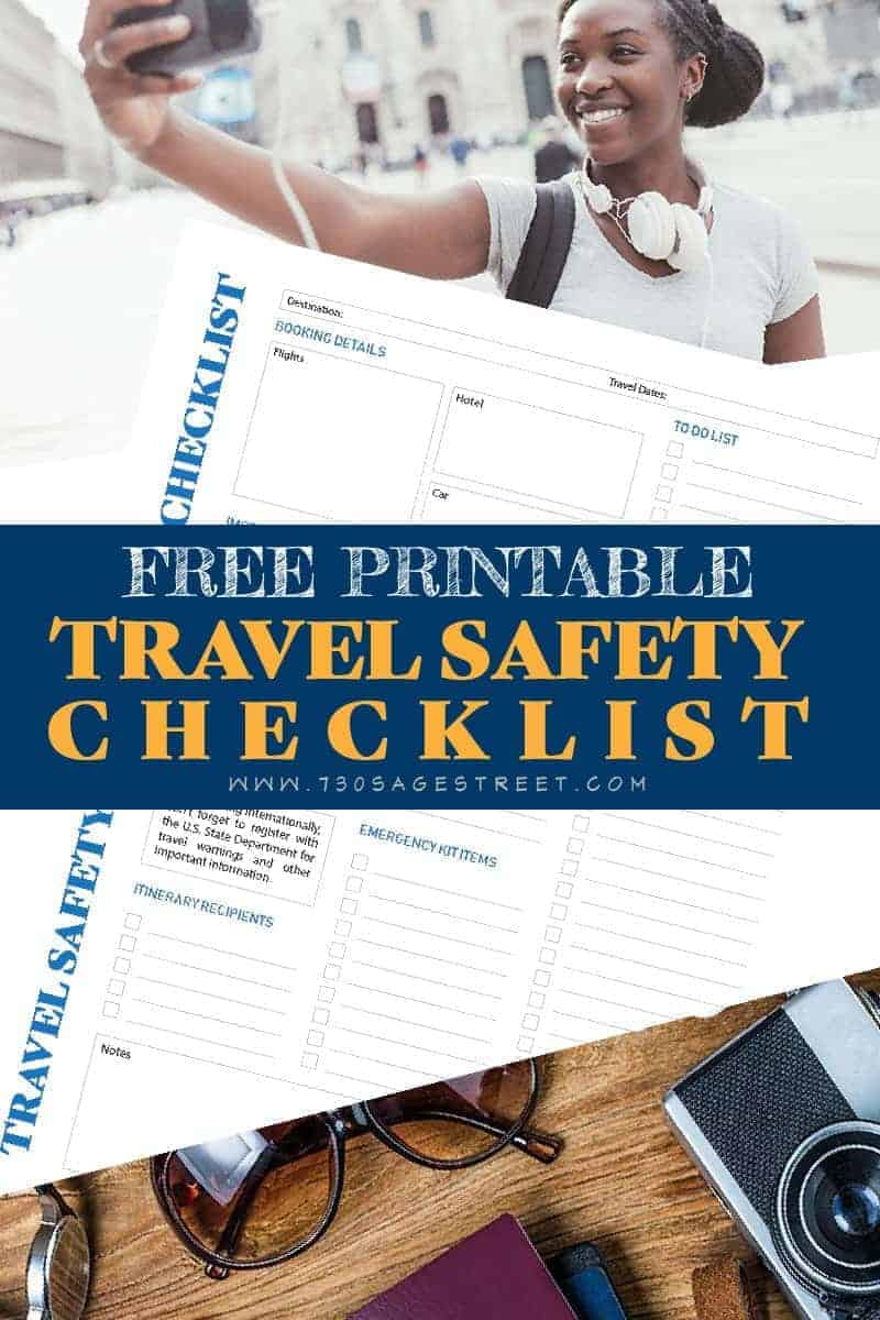 free printable safety checklist
