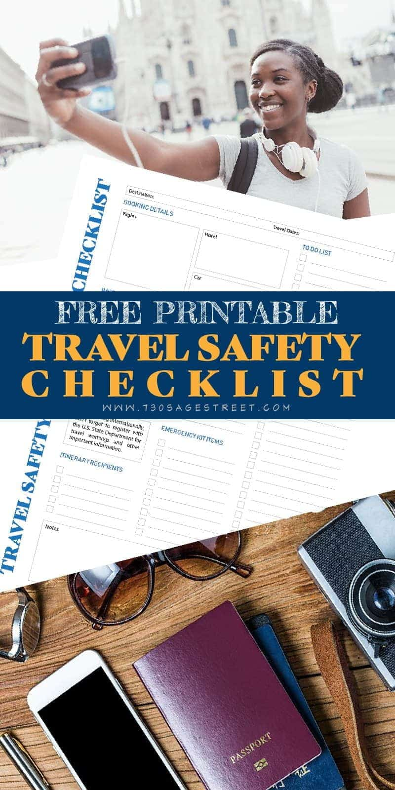 Free printable travel safety checklist. #travel #traveltips #travelling #mexico #cancun #tips #safety #printable #checklist