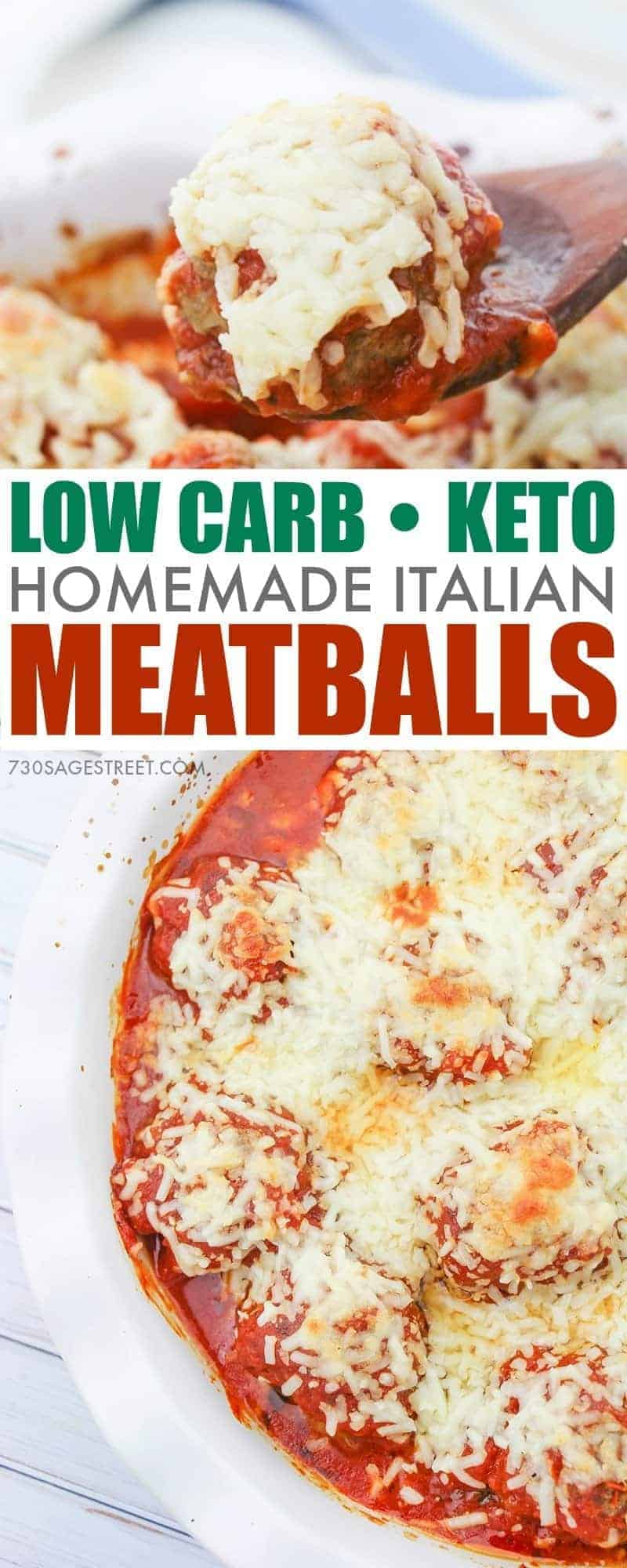 Italian Style Low Carb Keto Meatballs Parmesan