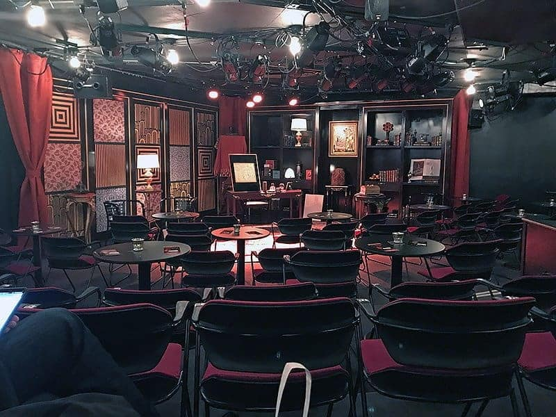 The Royal George Theatre set for The Rosenkranz Mysteries
