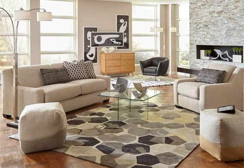 Cort Furniture Rental living room clean and bright