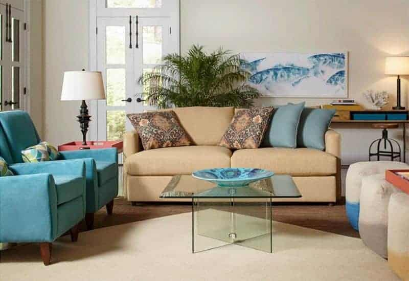 Cort Furniture Rental living room coastal style