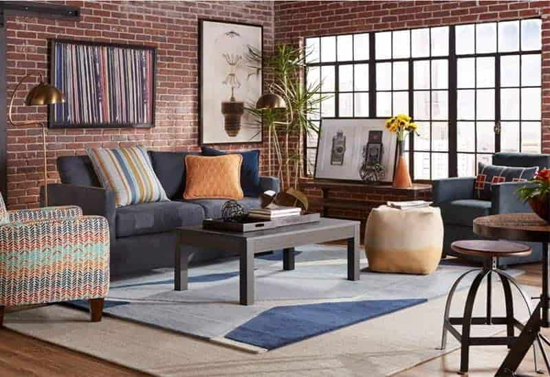 Cort Furniture Rental living room colorful and casual