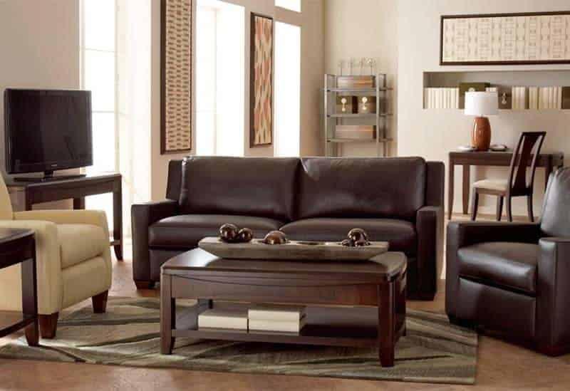 Cort Furniture Rental living room masculine